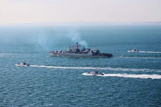 Российские пограничники одним сообщением развернули корвет НАТО