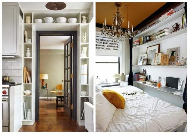 Использовать нужно вертикальные поверхности, это существенно добавит мест хранения и пространства.