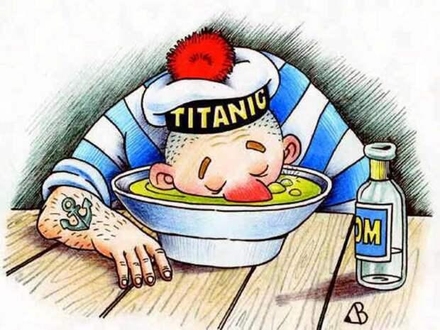К пьяницам на Руси всегда относились презрительно. /Фото:caricatura.ru