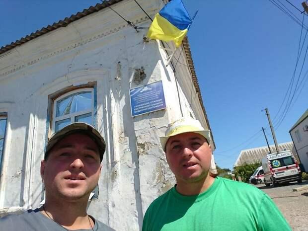 На границе с Крымом местные отлупили приезжих бандеровцев.