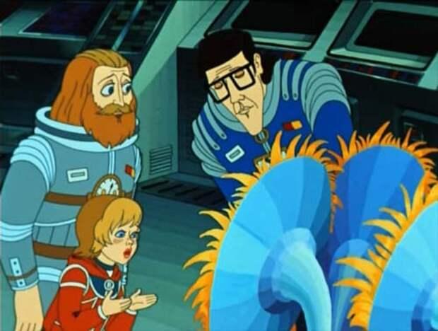 В 1981 году вышел мультфильм «Тайна третьей планеты» - одна из немногих экранизаций, которая нравилась писателю. Кадр из мультфильма