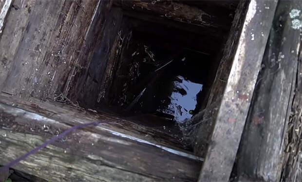 Вокруг старого колодца в лесу в деревне ходили слухи, и мужчина решил достать магнитом все со дна