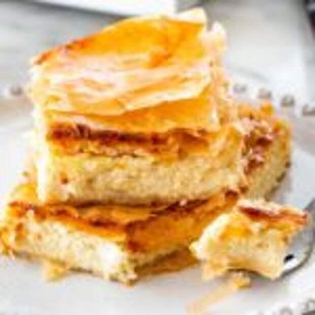 Простая тиропита — греческий сырный пирог