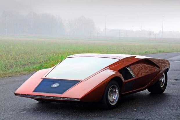 Lancia Stratos Zero авто, автодизайн, автомобили, аэродинамика, дизайн, обтекаемость, самолет
