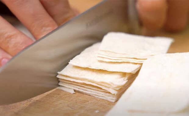 Превратили лаваш в настоящие чипсы. 15 минут и можно подавать