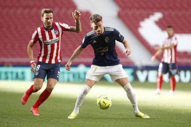 «Атлетико» вырвал победу у «Осасуны»
