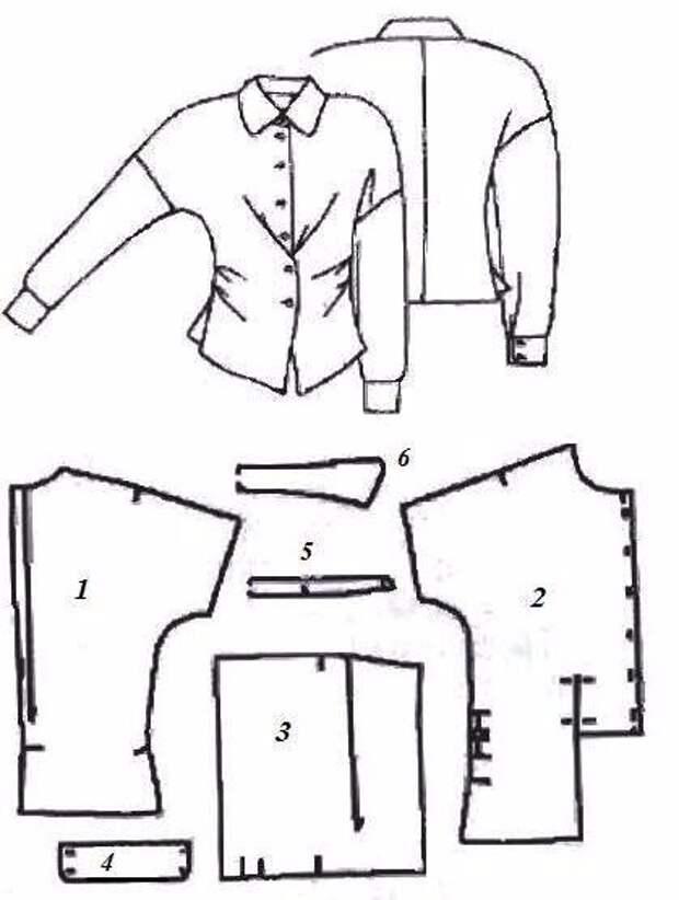 Блузка с двойной застёжкой