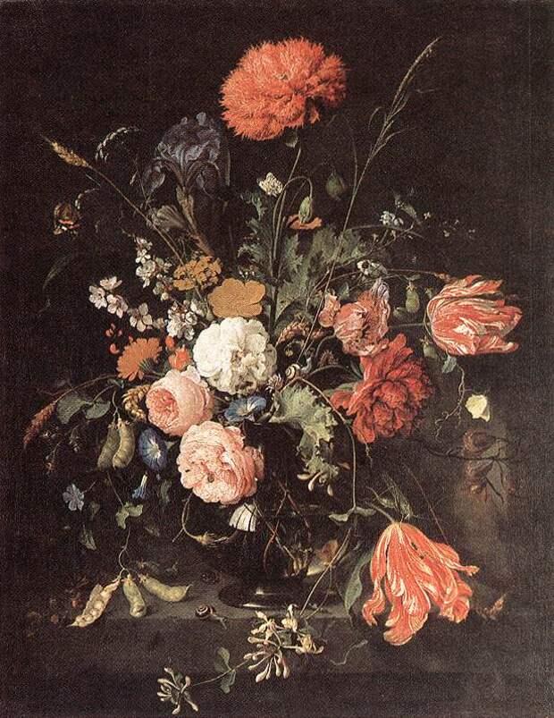 Ян Давидс де Хем. Цветочная композиция