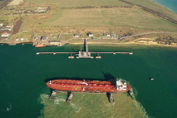 Танкер нефтьv США выгрузка