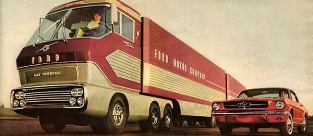 Ford Turbine Truck 1964 - Грузовик размером с дом ford, авто, автоистория, грузовик, концепт, концепт-кар, разработки, ретро авто