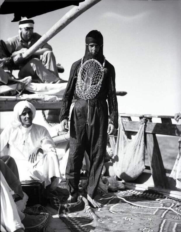 Ныряльщик за жемчугом, 1935 год, Эль–Джубайль, Саудовская Аравия история, ретро, фото