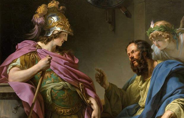 Франсуа-Андре Винсент «Сократ наставляет Алкибадеса» / Фото: pinterest.com