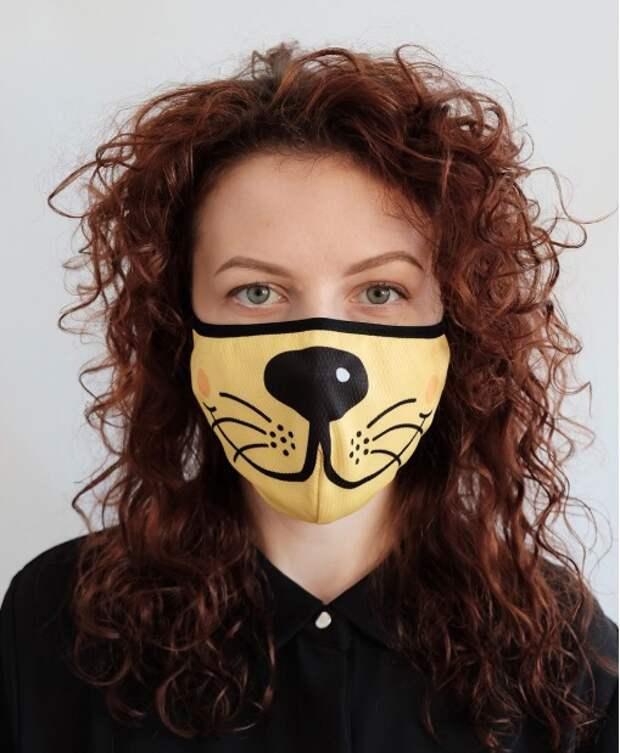 Магазины предлагают многоразовые маски, изображающие мордочки животных.