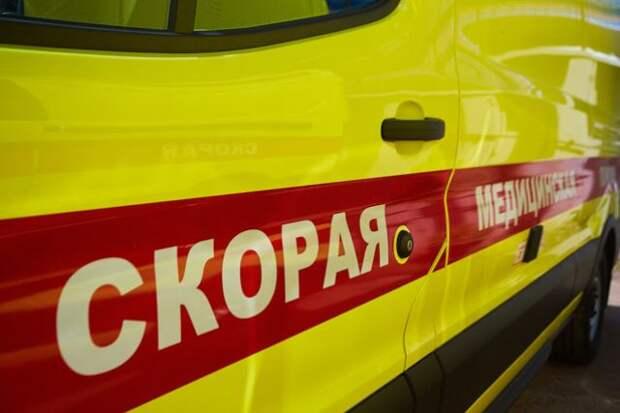 Скорая помощь и локомотив столкнулись в Краснодарском крае