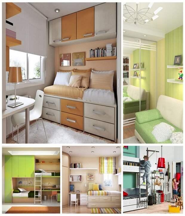 Варианты компактной мебели для детской комнаты.| Фото: Kayrosblog.ru.