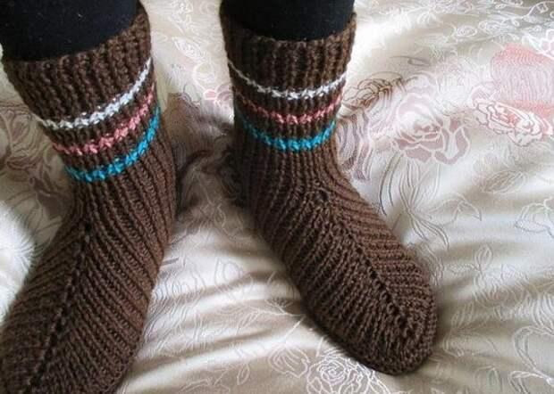 Вязание носков на двух спицах... 9 способов + видео мастер-класс!