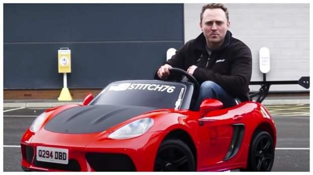 Британский блогер смог получить номера на игрушечную машину и право ездить по дорогам общего пользования (Видео)