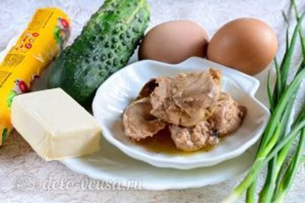 Тарталетки с печенью трески: Ингредиенты