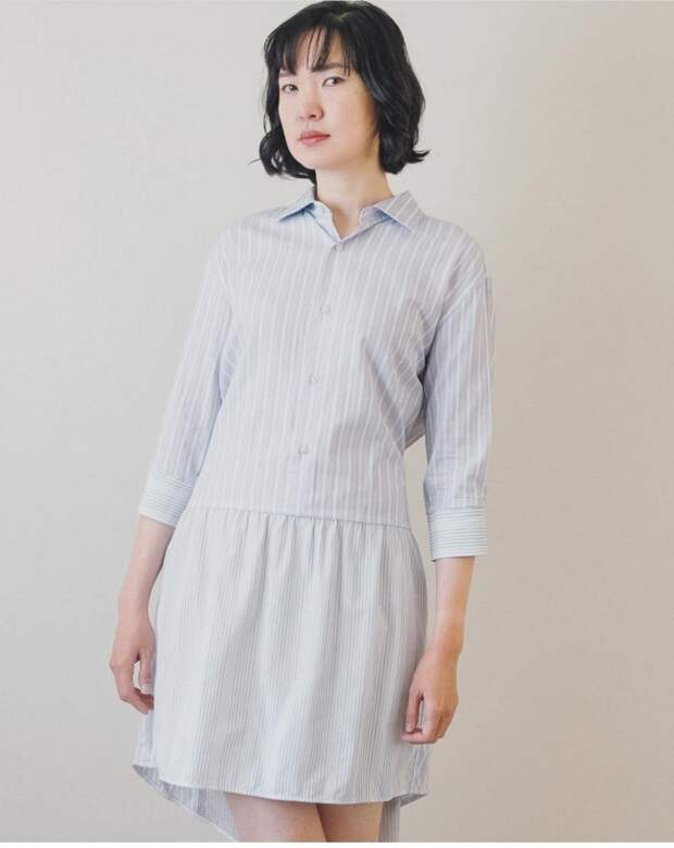 Креативные платья из рубашек