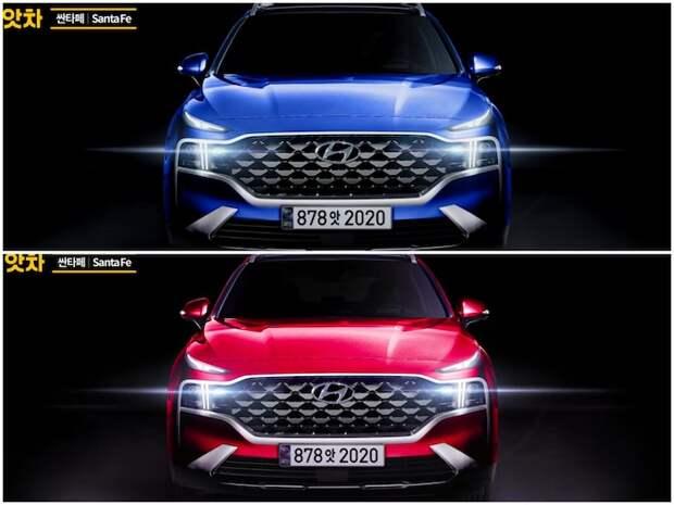 Обновленный Hyundai Santa Fe показали на новых рендерах