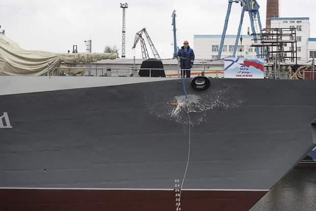 Россия спустила на воду новый корабль с «Калибрами»