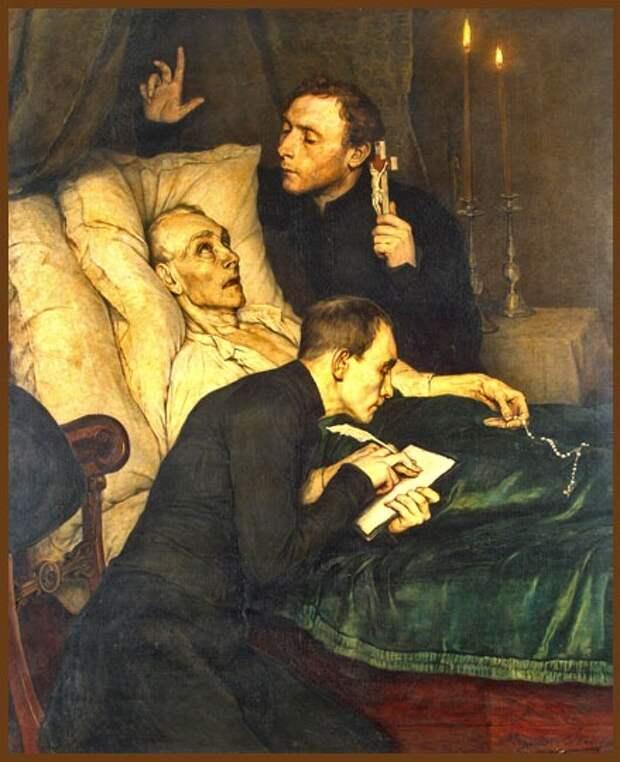 Александр Теодор Оноре Стрейс - Завещание. 1876 г. Бельгия, масло, холст.