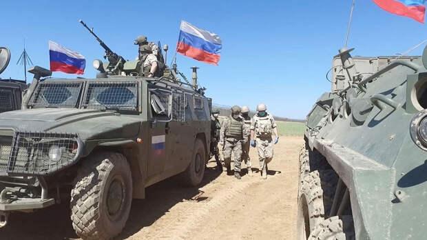 Российская военная полиция в Сирии остановила американскую колонну