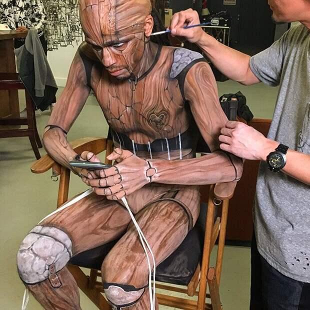 Впечатляющий боди-арт соспецэффектами отяпонского SFX художника Amazing Jiro