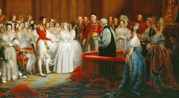 Королева Виктория выходит замуж за Альберта Саксен-Кобург-Готского 18 февраля 1840 года в Лондоне