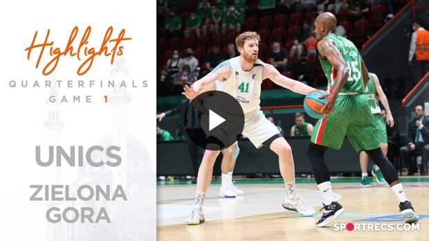 UNICS vs Enea Zastal Zielona Gora Highlights Quarterfinals Game 1 | Season 2020-21