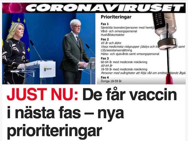 СМИ: «Спутник-V» может использоваться в Швеции