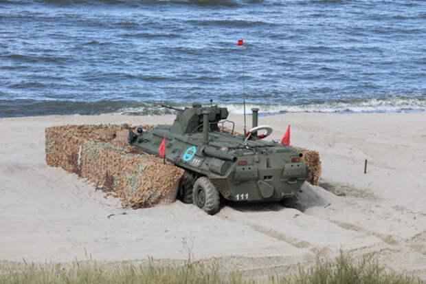 Морские пехотинцы Балтийского флота провели учение  по противодесантной обороне