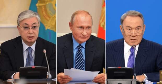 Путин поздравил Токаева с днем рождения и поговорил с Назарбаевым
