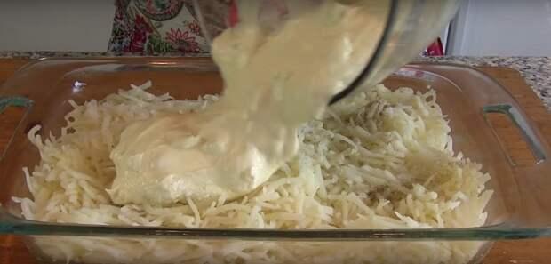картофельная запеканка с курицей рецепт