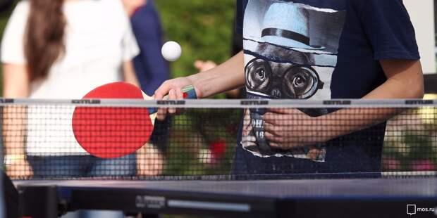 Секция по настольному теннису открылась в школе в Ясном проезде