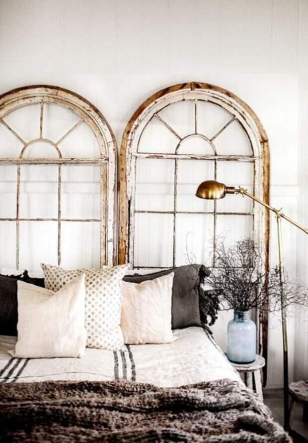 7. Ложные окна с витражами дизайн интерьера, идеи, окна, пейзаж, пространство, ремонт
