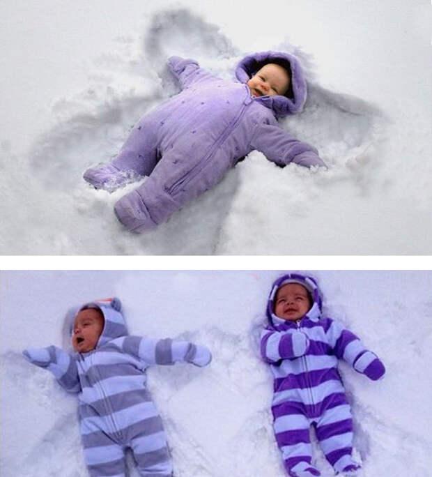 Снежный ангел: ожидание и... дети, фото, юмор