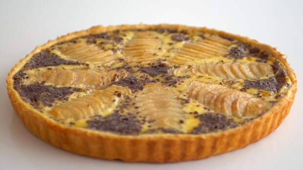 Пирог с грушево-шоколадной начинкой. Простой рецепт