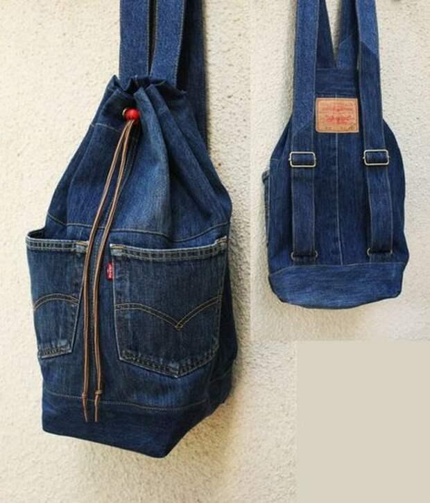 что сшить из старых джинс рюкзак