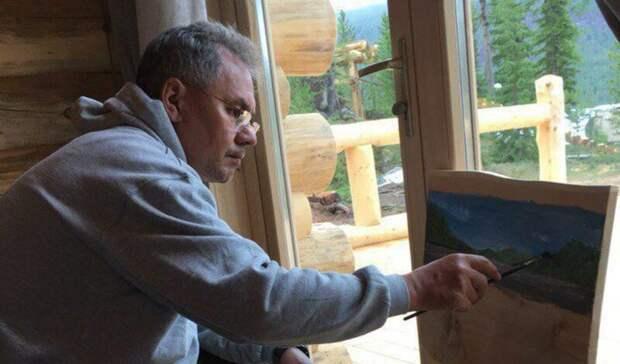 Шойгу продал свои картины и поделки из дерева за 40 млн рублей