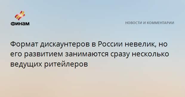 Формат дискаунтеров в России невелик, но его развитием занимаются сразу несколько ведущих ритейлеров