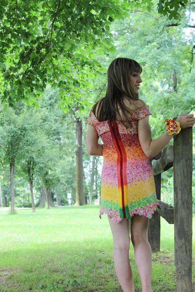 Платье выпускницы из фантиков