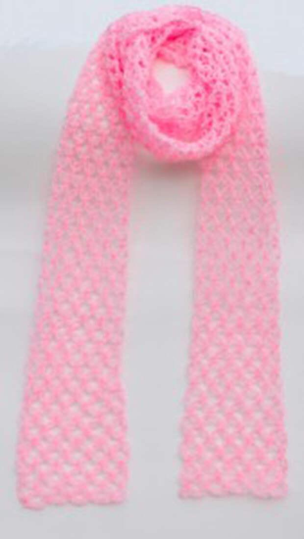 Вяжем нежный шарф соломоновыми петлями