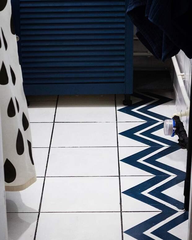 Напольная плитка - как покрасить?