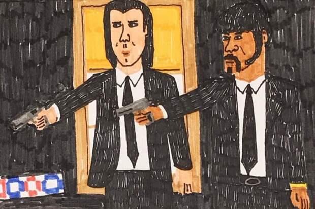 Фломастерных дел мастер Турбен иего рукотворные постеры ккинофильмам
