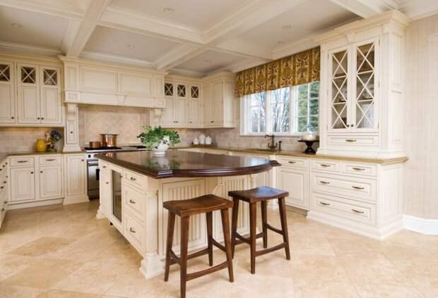 кухня в классическом стиле с матовым гарнитуром