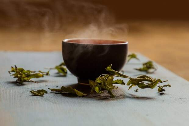 чай, чай в чашке, зеленый чай, чашка чая