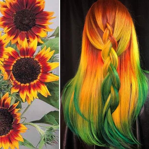 Природные мотивы: необычные техники окрашивания волос