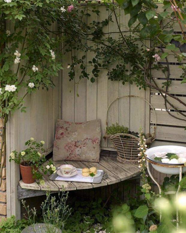 Уголок для отдыха. | Фото: Pinterest.