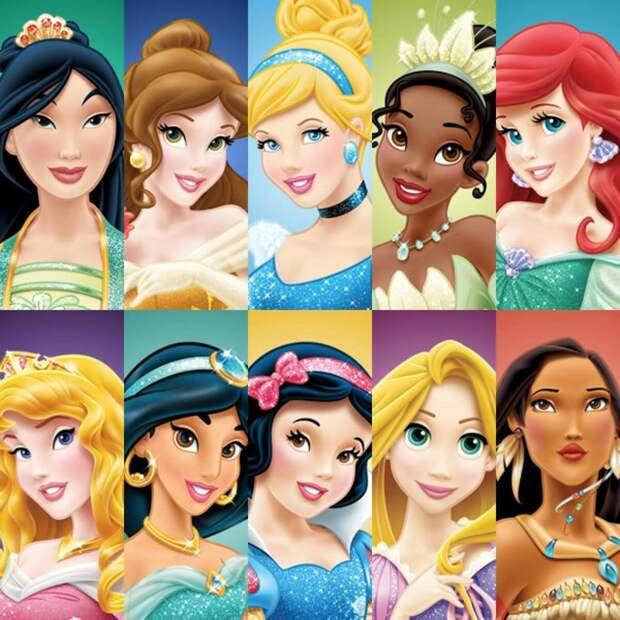 Тест: сможете узнать диснеевских принцесс по сильно увеличенным кадрам?